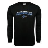 Black Long Sleeve TShirt-Arched University of North Carolina Asheville Bulldogs