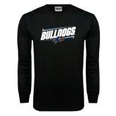 Black Long Sleeve TShirt-Slanted Bulldogs w/ Logo