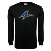 Black Long Sleeve TShirt-A Distressed
