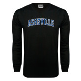 Black Long Sleeve TShirt-Asheville Arched