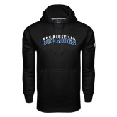 Under Armour Black Performance Sweats Team Hoodie-Arched UNC Asheville Bulldogs