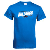 Royal T Shirt-Slanted Bulldogs w/ Logo