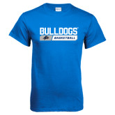 Royal T Shirt-Bulldogs Basketball Bar