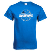 Royal T Shirt-Mens Basketball Champions with Ball