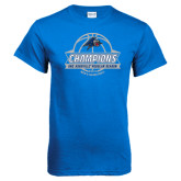 Royal T Shirt-Mens Basketball Champions Ball with ribbon
