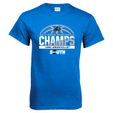 Royal T Shirt-2017 Mens Basketball Champions Half Ball