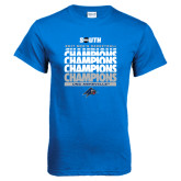 Royal T Shirt-2017 Mens Basketball Champions Repeating