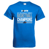Royal T Shirt-2017 Womens Basketball Champions Stacked