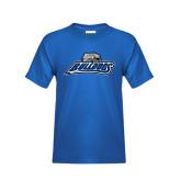 Youth Royal T Shirt-Bulldogs w/ Bulldog Head
