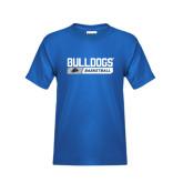 Youth Royal T Shirt-Bulldogs Basketball Bar