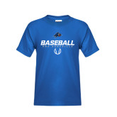 Youth Royal T Shirt-UNC Asheville Baseball Stencil