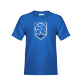 Youth Royal T Shirt-Soccer Shield