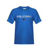 Youth Royal T Shirt-Volleyball w/ Ball