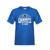 Youth Royal T Shirt-2017 Mens Basketball Champions Half Ball