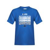 Youth Royal T Shirt-2017 Womens Basketball Champions Repeating