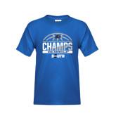 Youth Royal T Shirt-2017 Womens Basketball Champions Half Ball