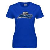 Ladies Royal T Shirt-Bulldogs w/ Bulldog Head
