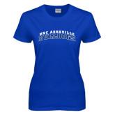 Ladies Royal T Shirt-Arched UNC Asheville Bulldogs
