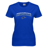 Ladies Royal T Shirt-Arched University of North Carolina Asheville Bulldogs