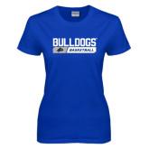 Ladies Royal T Shirt-Bulldogs Basketball Bar