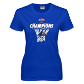Ladies Royal T Shirt-2016 Big South Champions Mens Basketball