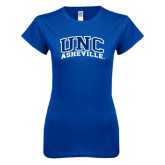 Next Level Ladies SoftStyle Junior Fitted Royal Tee-Arched UNC Asheville