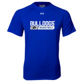 Under Armour Royal Tech Tee-Bulldogs Basketball Bar