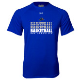 Under Armour Royal Tech Tee-UNC Asheville Basketball Repeating