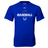 Under Armour Royal Tech Tee-UNC Asheville Baseball Stencil