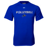 Under Armour Royal Tech Tee-Volleyball w/ Ball