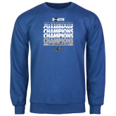 Royal Fleece Crew-2017 Mens Basketball Champions Repeating