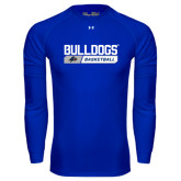 Under Armour Royal Long Sleeve Tech Tee-Bulldogs Basketball Bar