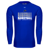 Under Armour Royal Long Sleeve Tech Tee-UNC Asheville Basketball Repeating