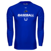 Under Armour Royal Long Sleeve Tech Tee-UNC Asheville Baseball Stencil