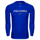 Under Armour Royal Long Sleeve Tech Tee-Volleyball w/ Ball