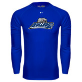 Under Armour Royal Long Sleeve Tech Tee-Bulldogs w/ Bulldog Head