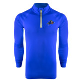 Under Armour Royal Tech 1/4 Zip Performance Shirt-A w/ Bulldog Head
