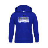 Youth Royal Fleece Hoodie-UNC Asheville Basketball Repeating