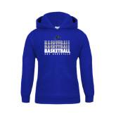 Youth Royal Fleece Hood-UNC Asheville Basketball Repeating
