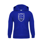Youth Royal Fleece Hoodie-Soccer Shield