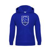 Youth Royal Fleece Hood-Soccer Shield