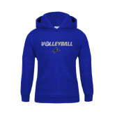 Youth Royal Fleece Hoodie-Volleyball w/ Ball