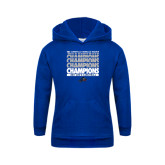 Youth Royal Fleece Hoodie-Mens Basketball Champions Stacked