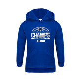 Youth Royal Fleece Hoodie-2017 Mens Basketball Champions Half Ball