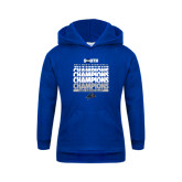 Youth Royal Fleece Hood-2017 Mens Basketball Champions Repeating
