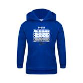 Youth Royal Fleece Hood-2017 Womens Basketball Champions Repeating