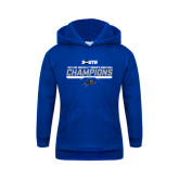 Youth Royal Fleece Hoodie-2017 Womens Basketball Champions