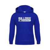 Youth Royal Fleece Hood-Bulldogs Basketball Bar