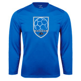 Performance Royal Longsleeve Shirt-Soccer Shield