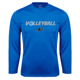 Performance Royal Longsleeve Shirt-Volleyball w/ Ball